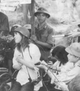 Hanoi Jane Having Fun with an NVA Gun Crew
