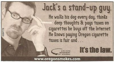 Oregon Cigarette Tax Advertisement